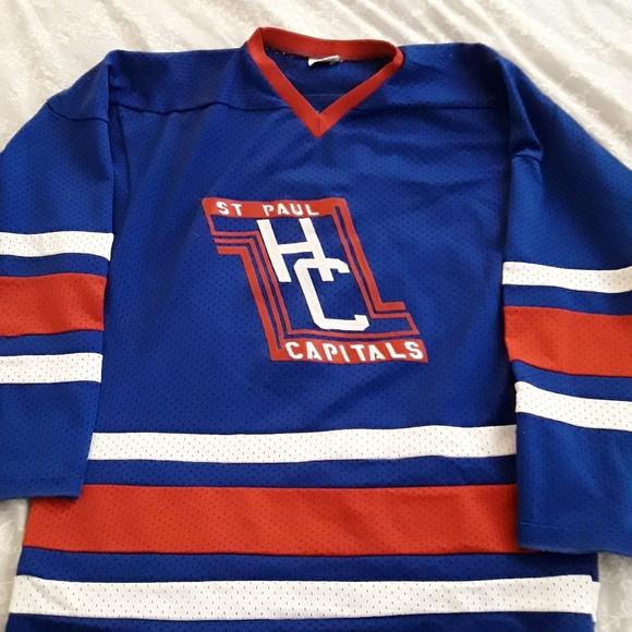 Sportswear Shirts St Paul Capitals 28 Hockey Jersey Size Large
